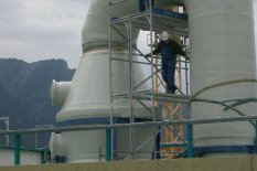 Scrubber waste incineration plant