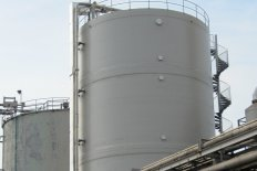 large diameter GRP storage tank