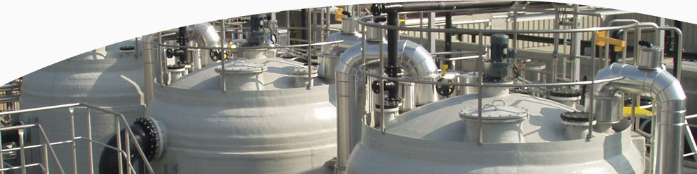 Process Vessels installed on a chemical plant